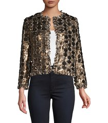 sequin open front jacket