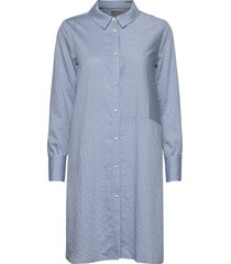 cunathleen shirt dress korte jurk blauw culture