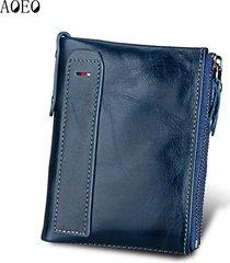 genuine leather men wallet short coin bag small vintage wallets male designer pu
