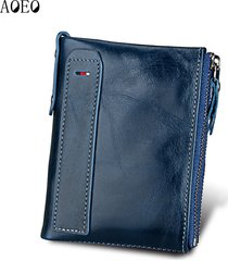genuine leather men wallet short coin bag small vintage wallets male designer pu