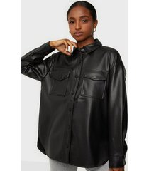 only onlbrylee-dionne faux leather shirt skjortor