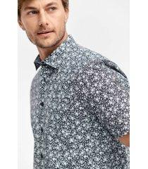 skjorta i mönstrad bomull