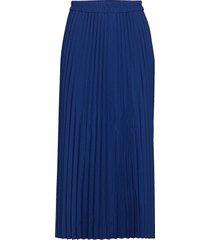 slfalexis mw midi skirt b knälång kjol blå selected femme