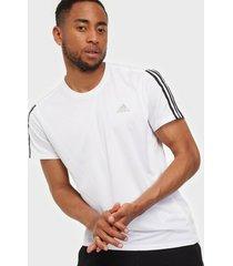adidas sport performance run it tee 3s m tränings t-shirts white/black