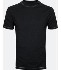 t-shirt i bomull med rund hals - svart