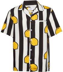 limoncello overhemd met korte mouwen zwart nikben