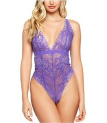 icollection eva two toned stretch lace bodysuit