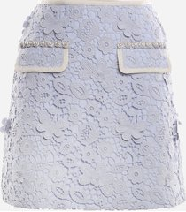 self-portrait guipure lace mini skirt