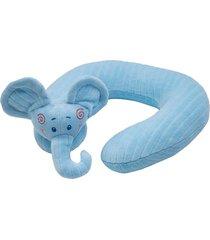travesseiro de pescoço bichos de pano elefantinho - antialérgico - azul