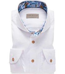 john miller hemd tailored fit mouwlengte 7 wit