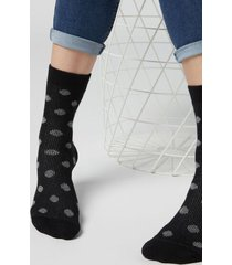 calzedonia patterned ankle socks with cashmere woman black size tu