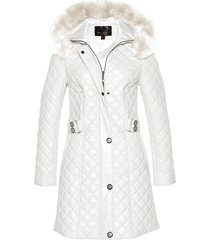 cappotto corto trapuntato in similpelle (bianco) - bpc selection premium
