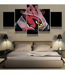 5pcs arizona cardinals gloves canvas prints painting wall art picture home decor