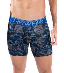 bóxer medio hawai azul