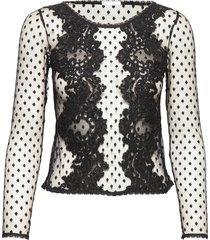 covet top blouse lange mouwen zwart ida sjöstedt