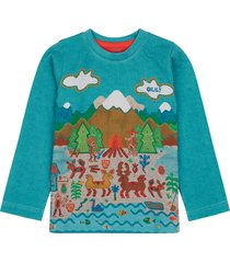 oilily t-shirt top- turquoise