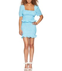 bcbgeneration smocked seersucker gingham mini skirt
