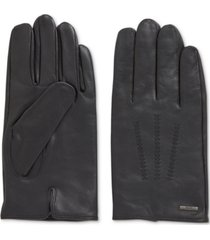 boss men's hainz lined nappa leather gloves