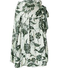 a.n.g.e.l.o. vintage cult floral print skirt - green