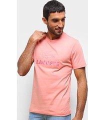 camiseta lacoste bordada masculina - masculino