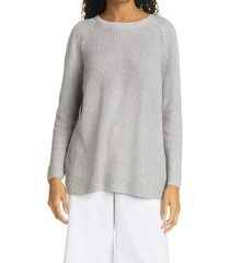 women's eileen fisher crewneck sweater, size xx-small - grey
