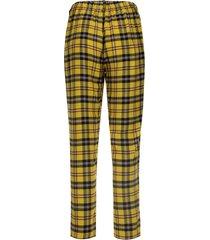 pantalón a cuadros grandes color amarillo, talla 16