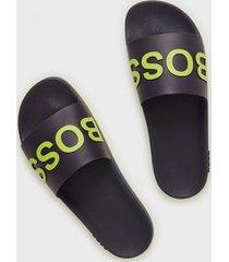boss bay_slid sandaler & flip flops dark blue