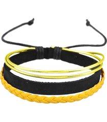 pulseira decovian ajustável amarelo