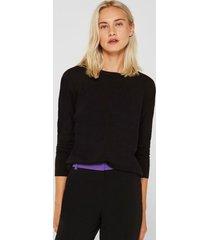 sweater con lana negro esprit