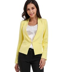 blazer clásico entallado amarillo nicopoly