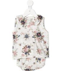 violeta e federico carmen floral-print dress - white