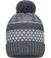 czapka chłopięca z pomponem