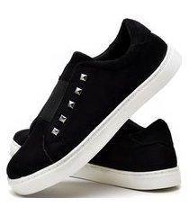 tênis sapatênis casual fashion feminino dubuy r301el preto
