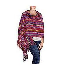 cotton shawl, 'valley of flowers' (guatemala)