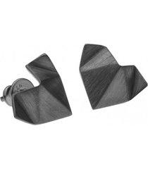 kolczyki serca origami mini