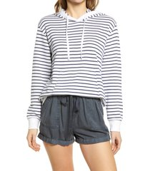 women's caslon french terry pullover hoodie, size x-small - white