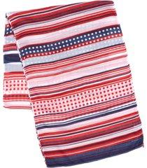 echo 23 stripe dot oblong scarf