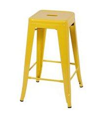 banqueta retrô média amarelo or design