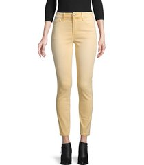 joe's jeans women's distressed colors mid-rise ankle jeans - sorbet - size 24 (0)
