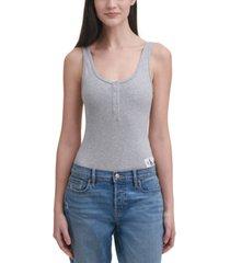 calvin klein jeans henley bodysuit