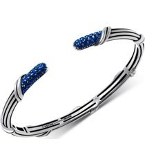 peter thomas roth sapphire cuff bracelet (1-1/5 ct. t.w.) in sterling silver