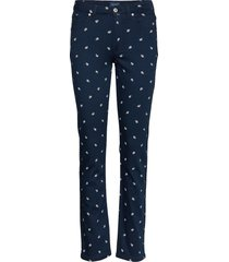 d1. slim twill small paisley jeans slimfit broek skinny broek blauw gant