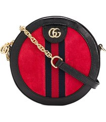 gucci ophidia mini round shoulder bag - red