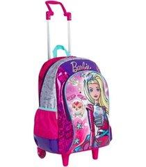 mochila infantil sestini barbie aventura nas estrelas com rodinhas