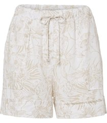 shorts in lino fantasia (bianco) - bodyflirt