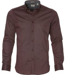 dstrezzed overhemd - slim fit - bordo