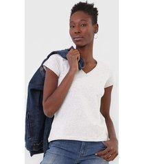 camiseta polo wear gola v cinza - cinza - feminino - algodã£o - dafiti