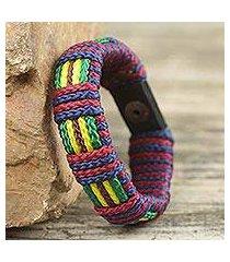 men's wristband bracelet, 'kente kingdom' (ghana)
