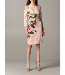 blumarine dress blumarine dress in rose print brocade