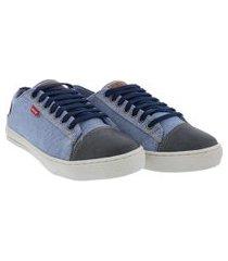sapatênis woche jeans azul claro